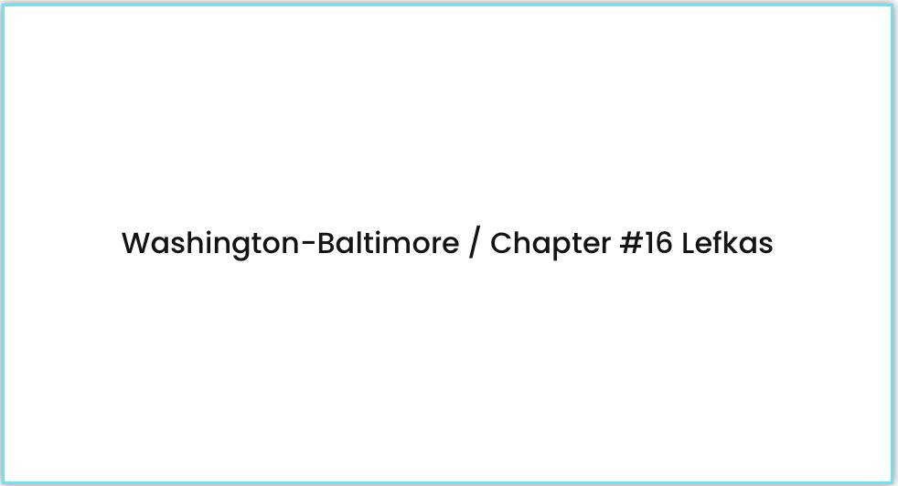 Washington Baltimore Chapter lefkas