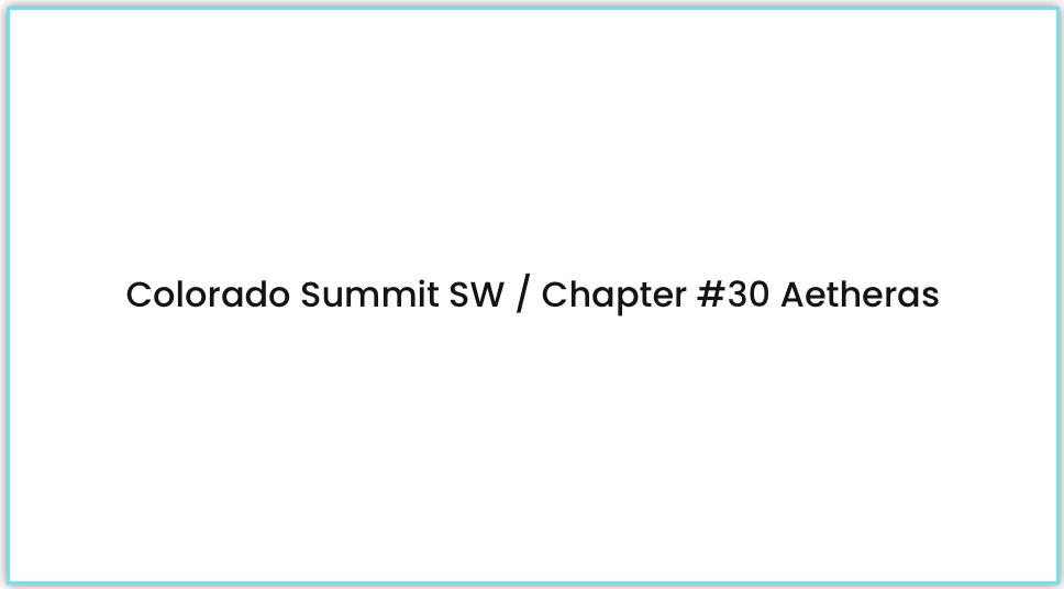 chapter 30 colorado